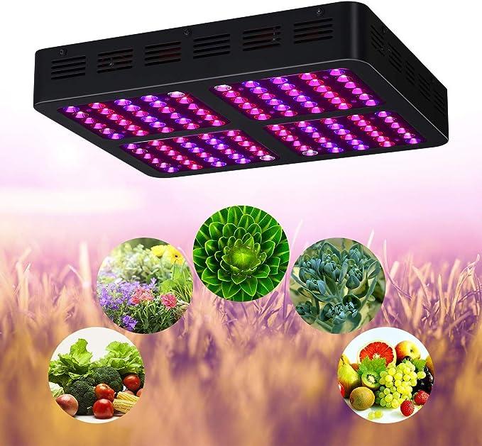 JXJ 600w led Crecen la luz, el Espectro Completo Veg & Bloom ...
