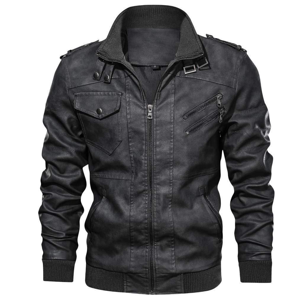 Mens Casual Jacket Zip Up Lightweight Bomber Flight Sportswear Jacket Windbreaker Softshell with Ribbing Edge Black by Mens Hoodies F_Gotal