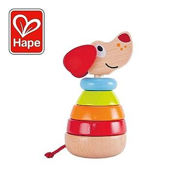 Hape International- Apilable arcoíris Perrito Pepe y Amigos, (Barrutoys E0448): Juguetes y juegos