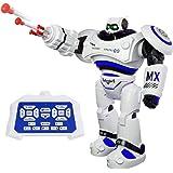 SGILE Robot Telecomandato Giocattolo Intelligenti di Robot con LED Luci Lampeggiante e Suoni Camminare Scivolare Ballare per Bambini