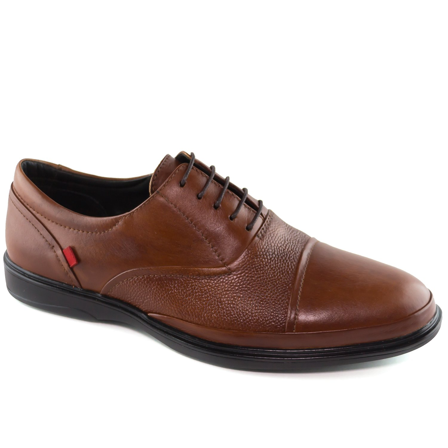 Mens Genuine Leather Made In Brazil Broad Street Classic Oxford Whiskey Grainy Lace Up Marc Joseph NY Fashion Shoes 7
