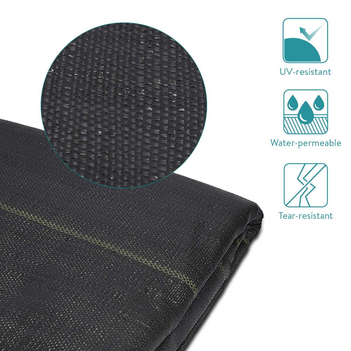 Tama/ño S 2x5M Navaris Malla antihierbas de 10M/² Tela de jardiner/ía con protecci/ón UV para Las Malas Hierbas Resistente a roturas