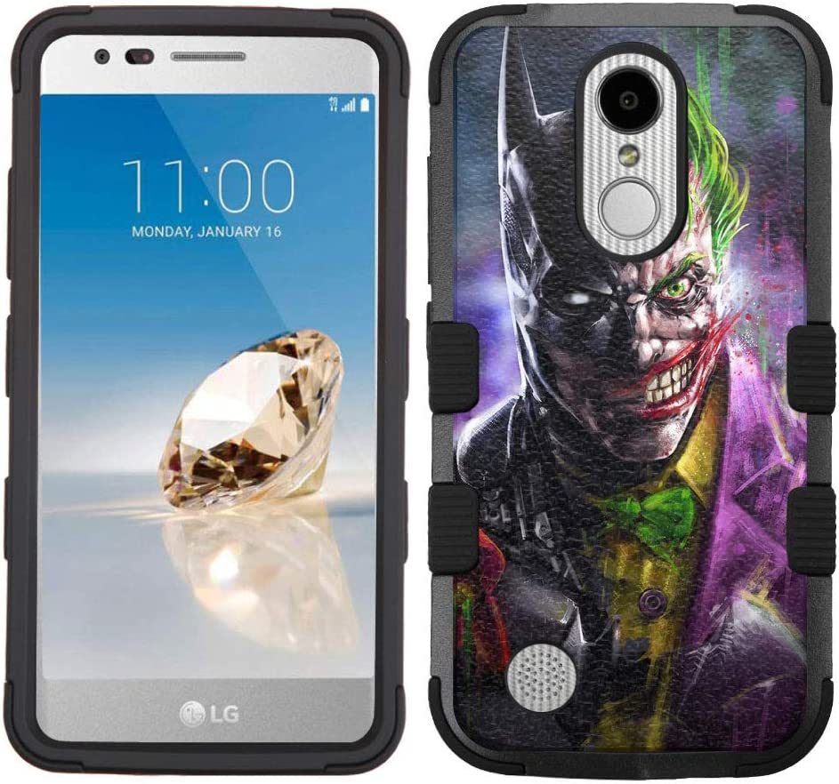 LG Aristo Case,LG Aristo 2 Case,LG Rebel 3 LTE Case,LG Aristo 2 Plus/LG Tribute Dynasty/Zone 4/Fortune 2/Phoenix 3/Rebel 2 LTE/K8+ Plus Case, Rugged Case - Joker Batman #ZZ