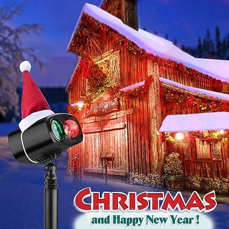 Luces de Proyección Navidad Proyector de la Navidad LED Iluminación de Paisaje IP65 Impermeable Lámpara Luz