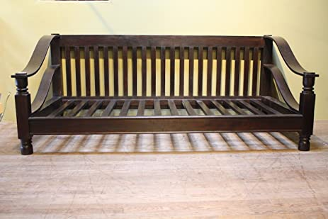 Lovely Indian Rosewood Plantation Sofa Double, 80x40u0026quot;