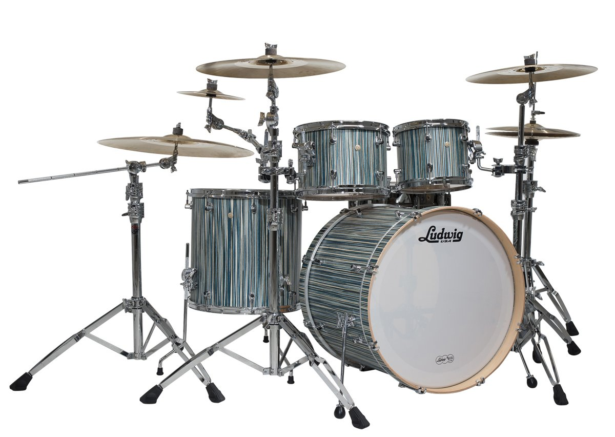 Amazon Ludwig Signet 105 Terabeat 4 Piece Shell Pack Alpine Blue Musical Instruments