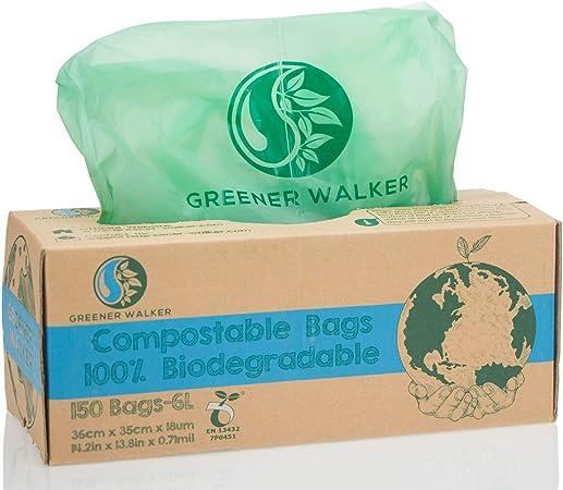 Greener Walker 100% compostable Biodegradable 6L Bolsa Basura ...