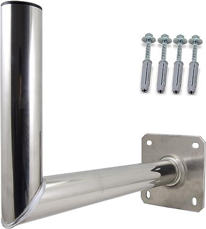 Satix, 00-6307KAS, Soporte de Pared para Antena Satélite, 35 cm, Incluye Material de Fijación Aluminio