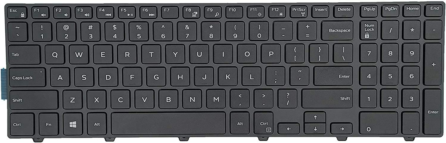 Replacement Keyboard for Dell Inspiron 17 5000 5748 i5748 5749 i5749 5758 i5758 5755 5759 i5759, Inspiron 15 5000 5542 5543 5545 5547 5552 5557 5558 5559 Series Laptop Without Backlight