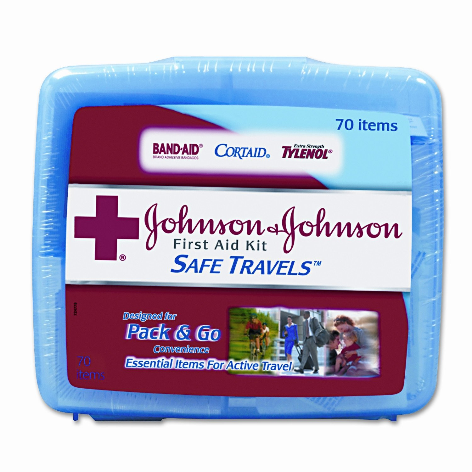 Red Cross Safe Travels First Aid Kit (4 Packs of 70 count)