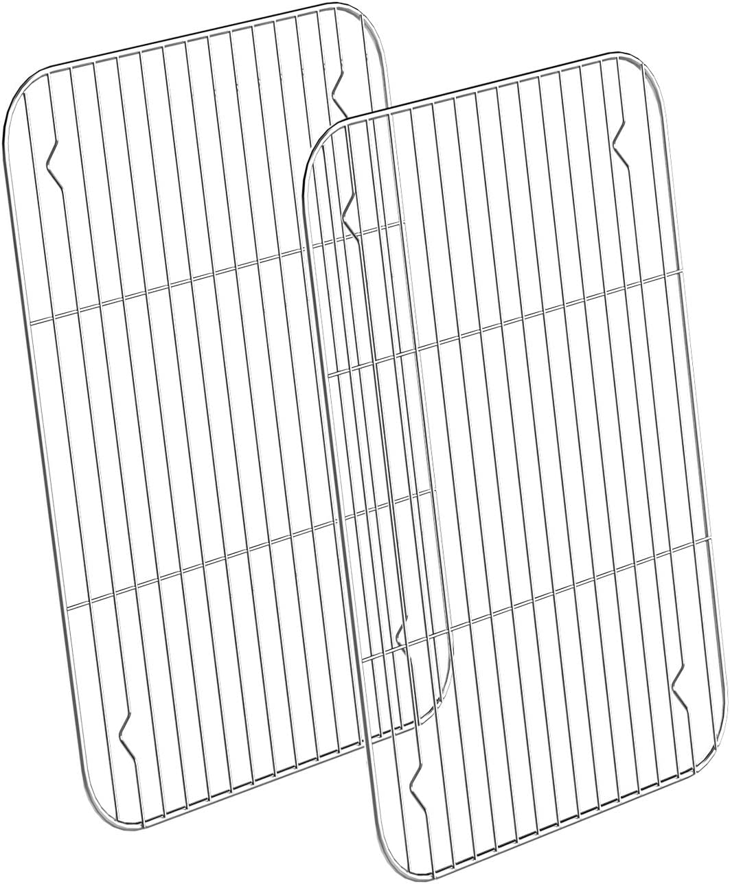 Stainless Steel Cooling Racks 2 Pack, HKJ Chef Baking Racks Size 10 x 8 x1Inch for Cooking Baking Roasting Grilling Cooling, Fit Various Size Cookie Sheets Oven & Health & Dishwasher Safe