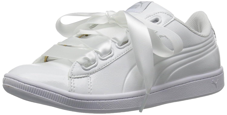 PUMA Women's Vikky Ribbon P Sneaker B072QZM6CB 9.5 B(M) US|Puma White-puma White