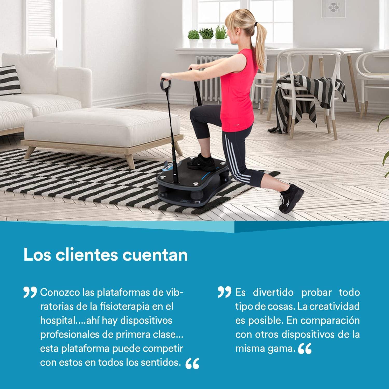 skandika Home 500 Plataforma vibratoria Mando Distancia MAX.120 Kg 4 programas Poster de Ejercicios