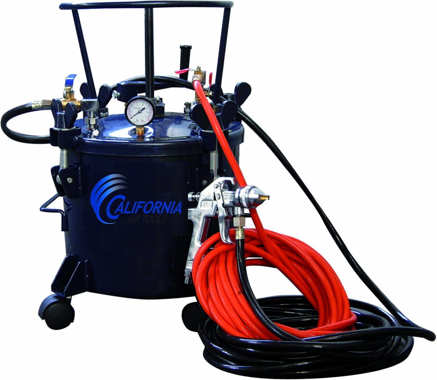 California Air Tools 365 Pressure Pot with HVLP Spray Gun and Hose by California Air Tools