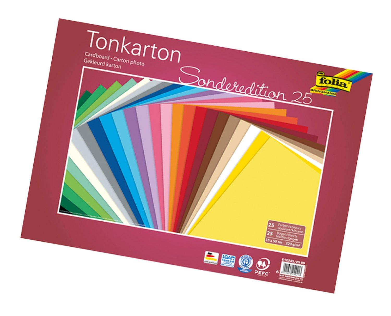 50x FOLIA fotokarton DIN a4 300 g 10 Couleurs bastelkarton TONKARTON TONPAPIER