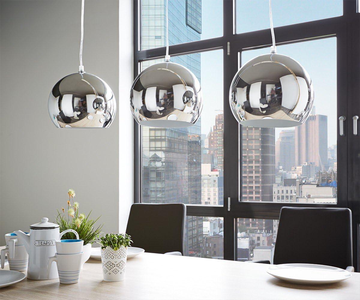 DELIFE Hängeleuchte Pentola Chrom Silberfarben 75 cm 3 Schirme Deckenlampe: Amazon.de: Beleuchtung -