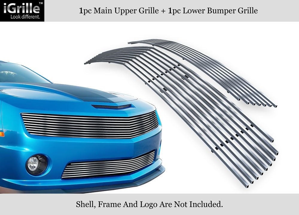 APS 304 Stainless Steel Billet Grille Grill Combo Fits 10-11 Chevy Camaro LT/LS V6#C61027C
