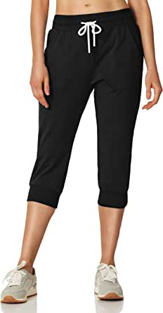 7GOALS Capris for Women Workout Cotton Sweatpants with Pocket Running Sweat Pant Lounge French Terry Yoga Pants