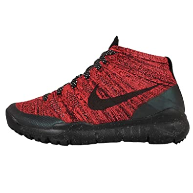 huge selection of 03f86 7af25 Nike Womens W Flyknit Trainer Chukka FSB Bright Crimson Black-Sequoia  Fabric Size 8.5