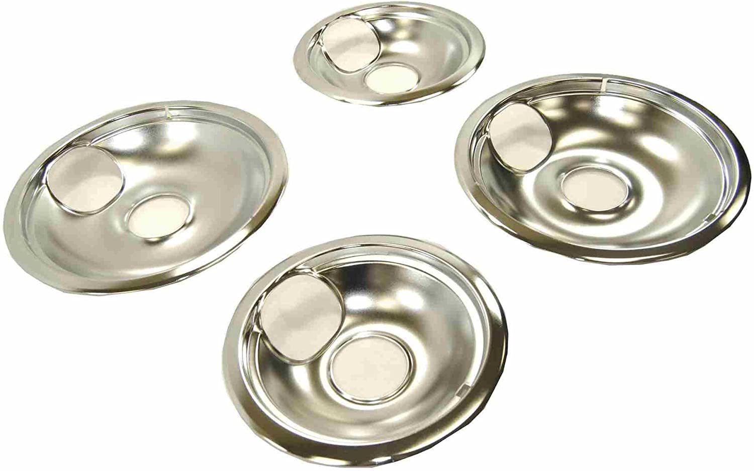 A068C GE Drip Bowl Set for Electric Ranges (4-Pack) Fits Most Leading Brands Except GE and Hotpoint