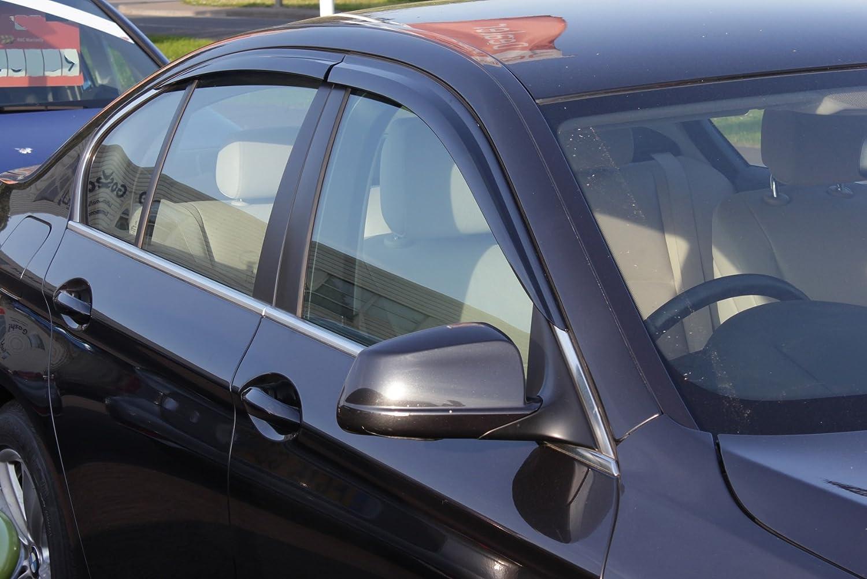 Autoclover BMW Sé rie 5 F10 2010 + Dé flecteurs d'air Lot de 4 piè ces (Fumé )