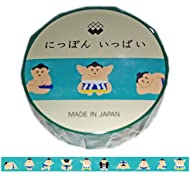 """Kawaii Japanese Washi Tape. Popular for Japanese Girls That Produced by Famous Company in Japan.""""Nippon IPPAI"""". (Sumo Wrestler)"""
