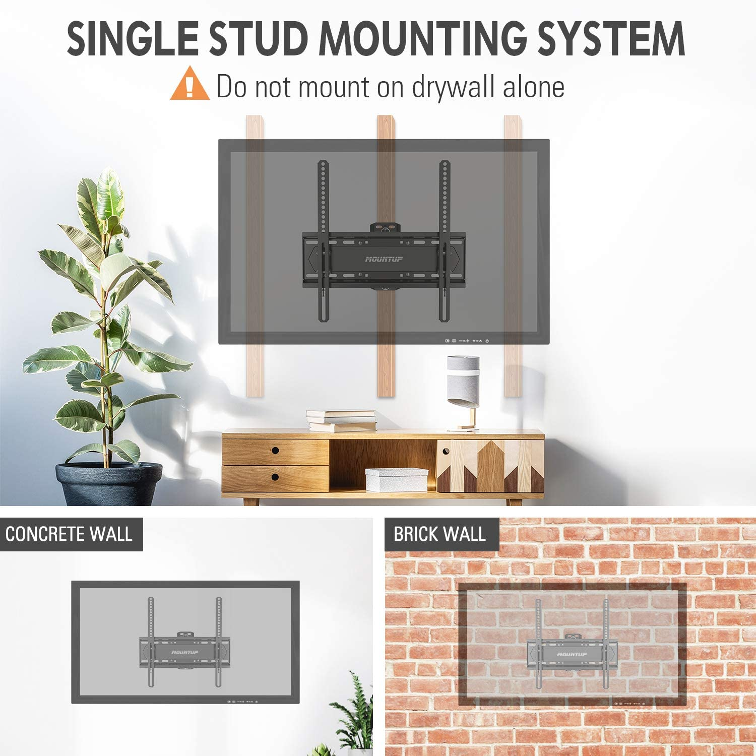 MOUNTUP Full Motion TV Wall Mount Bracket for 26-55 Inch TVs with 19.6