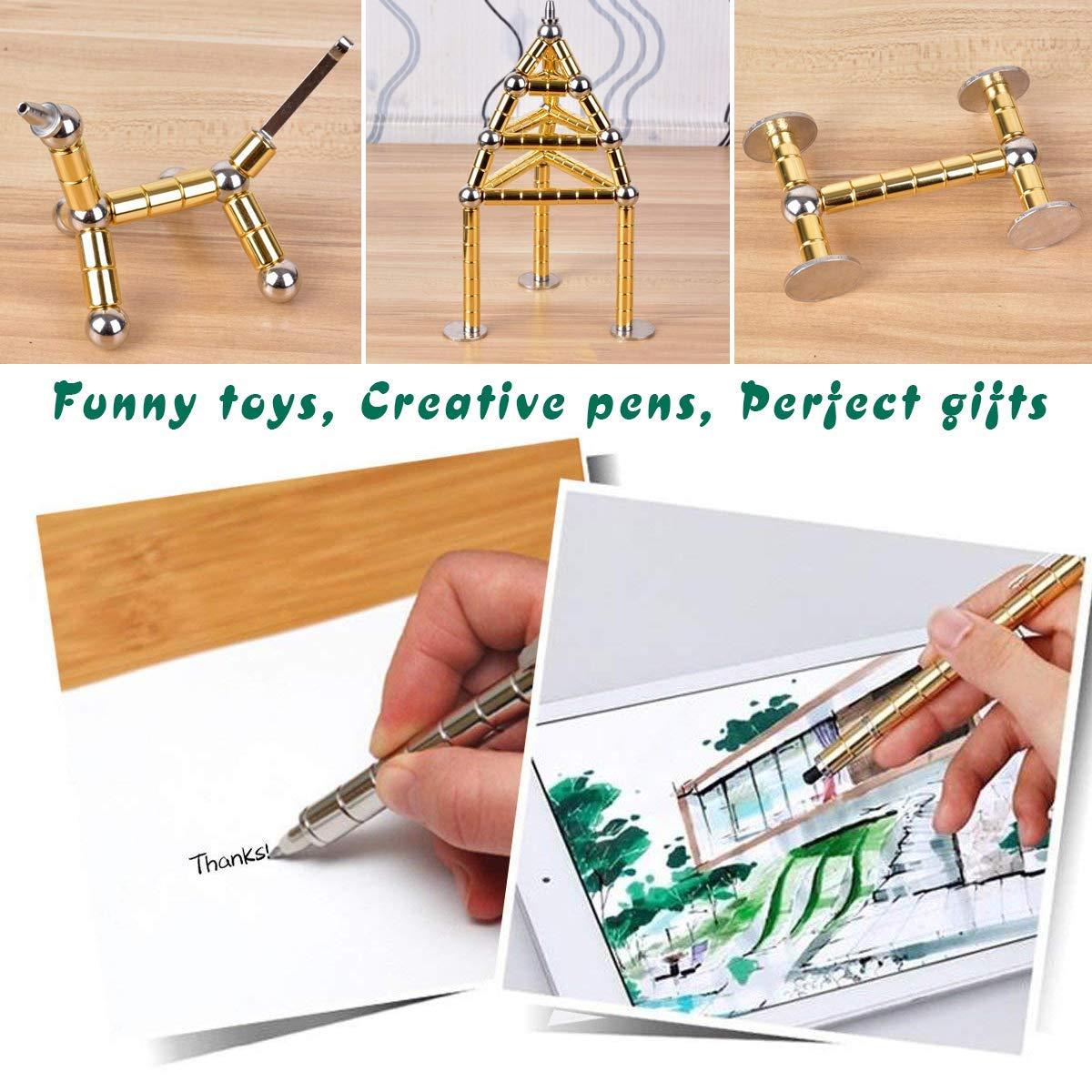 Penna magnetica: Oro Cooler Penna magnetica meravigliosa penna a sfera magnetica penna a sfera Idea regalo divertente Penna magnetica penna Stylus Set regalo creativo