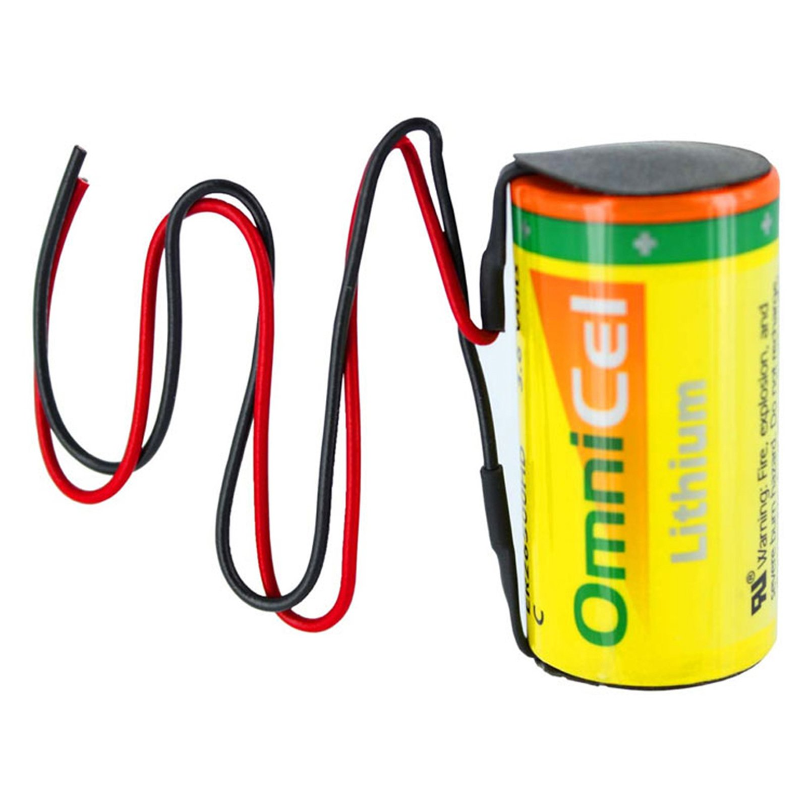 OmniCel ER26500HD 3.6V Size C Lithium Battery with Wire Leads Replaces PT-2200, LSH14, TL-2200 TL-4920 TL-5920, SB-C01 SB-C02, XL-145F For Signal lamp, Industrial PC, Computer RAM, Medical equipment by Exell Battery