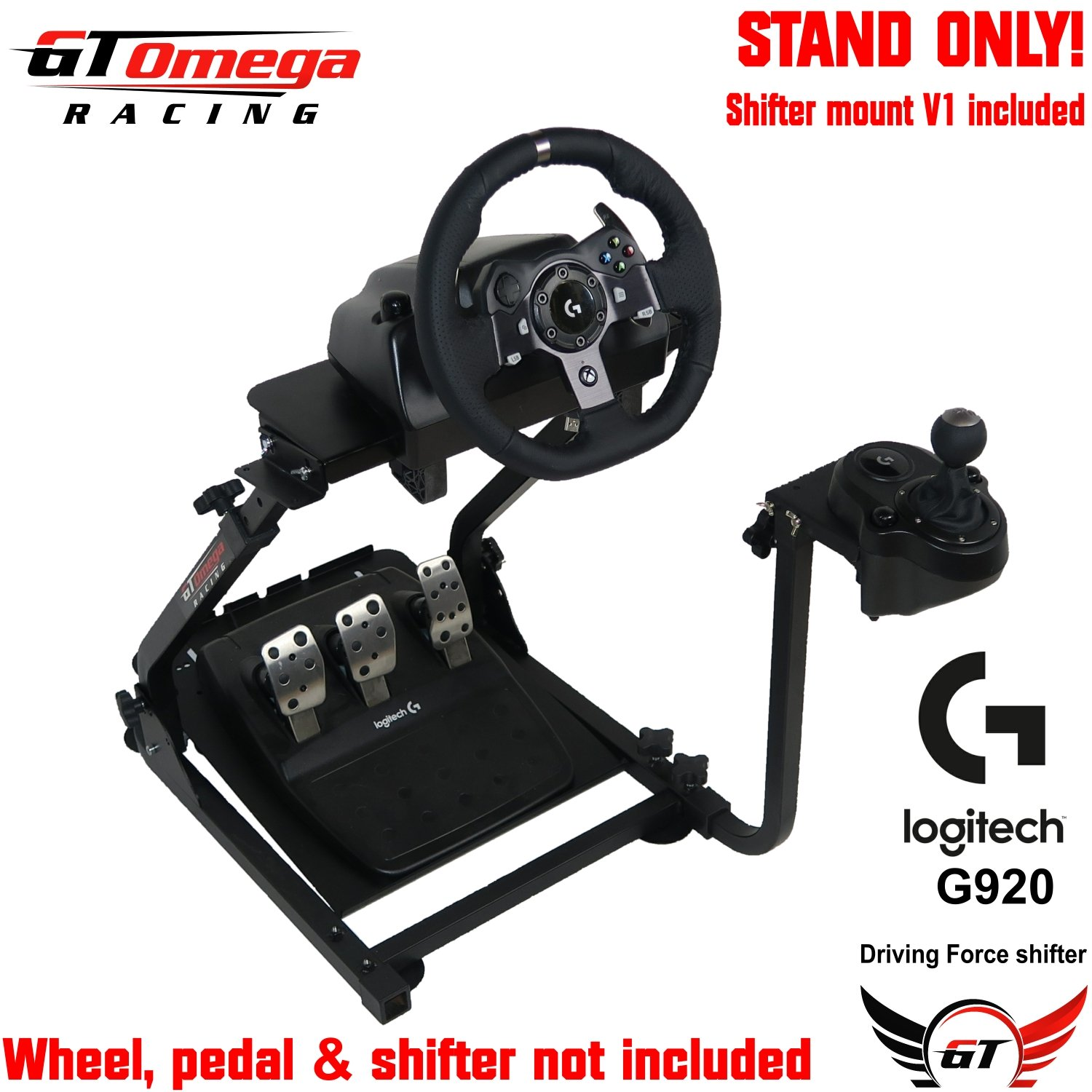 GT Omega Steering Wheel stand suitable For LOGITECH Driving Force G920 Wheel & Shifter PRO