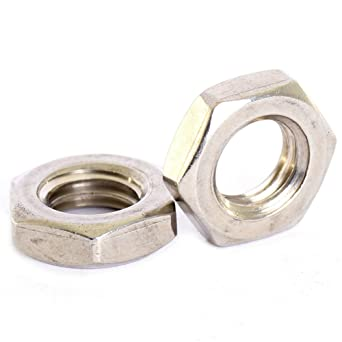Bolt Base A2 Stainless Steel Hex Full Nuts M2.5 0.45mm Pitch 10