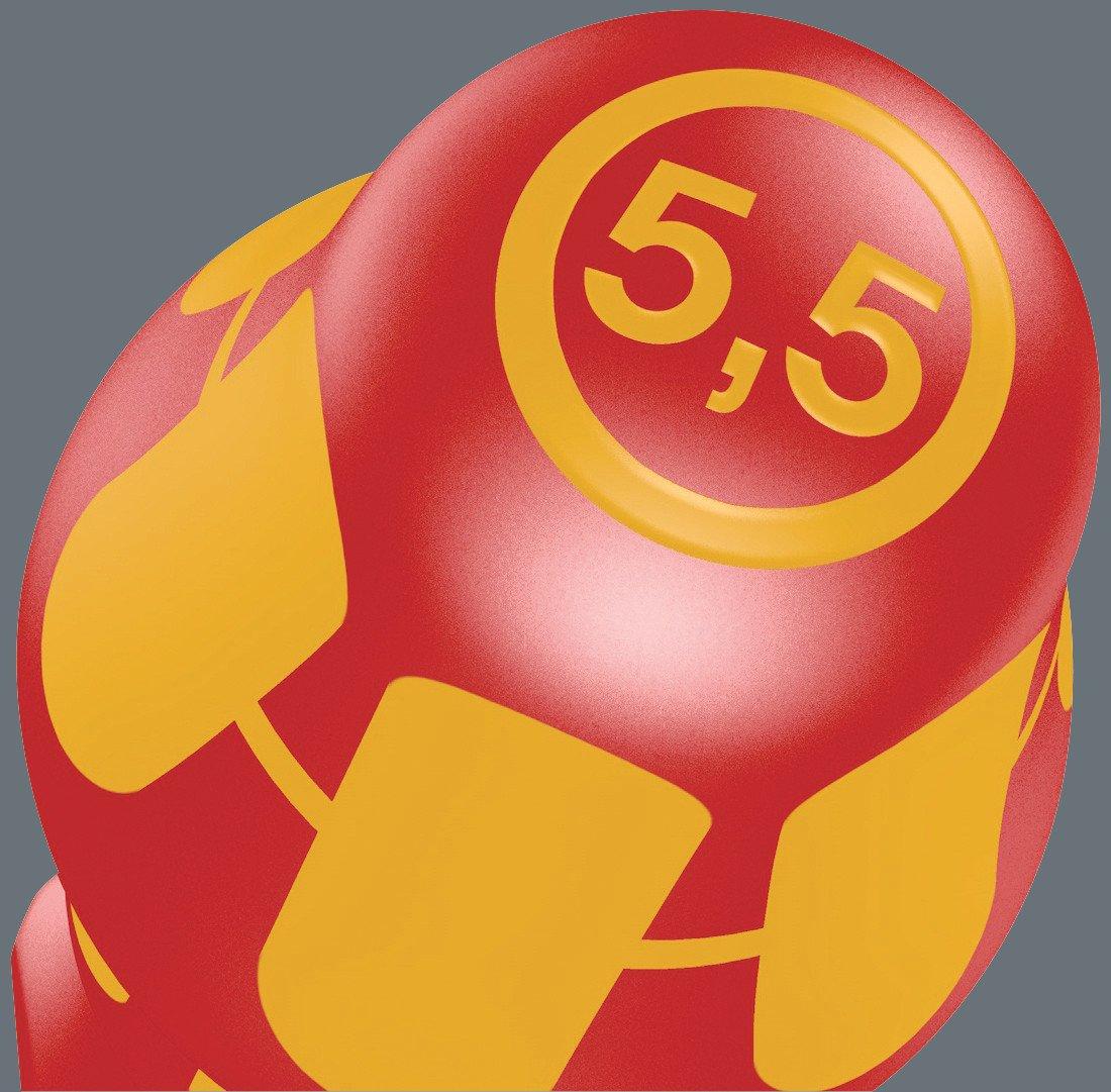 05105631001 /& Jokari 20050 Abisolierzange Super 4 plus Schraubendreher Set 14-teilig Wera Kraftform Big Pack 100 VDE