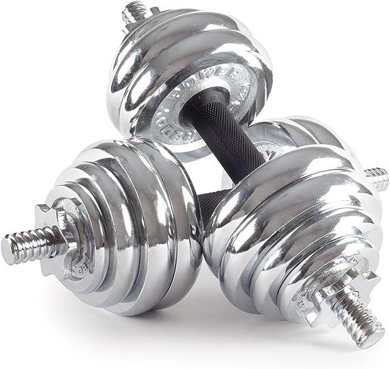 Power Body Bodypower 30 kg Chrome Spinlock Juego de Pesas: Amazon.es: Deportes y aire libre