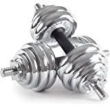 Bodypower 30kg Chrome Spinlock Dumbbell Weight Set