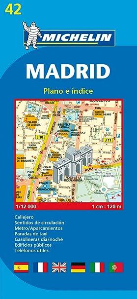 Plano Plegable Madrid (Planos Michelin): MICHELIN: Amazon.es: Belleza