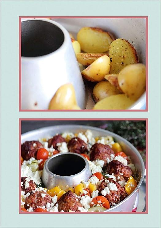 Omnia - Juego de horno de 4 piezas | horno + molde de silicona 2.0 + ideas 2 en 1 de cocina y horno + rejilla para hornear