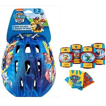 0a7c356898e Nickelodeon Paw Patrol Toddler Bike // Skate Helmet Pads /& Gloves - 7 Piece
