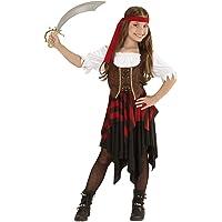 WIDMANN Piratessa Vestito Corsetto Fascia Per Testa Costumi Completo Bambino 918