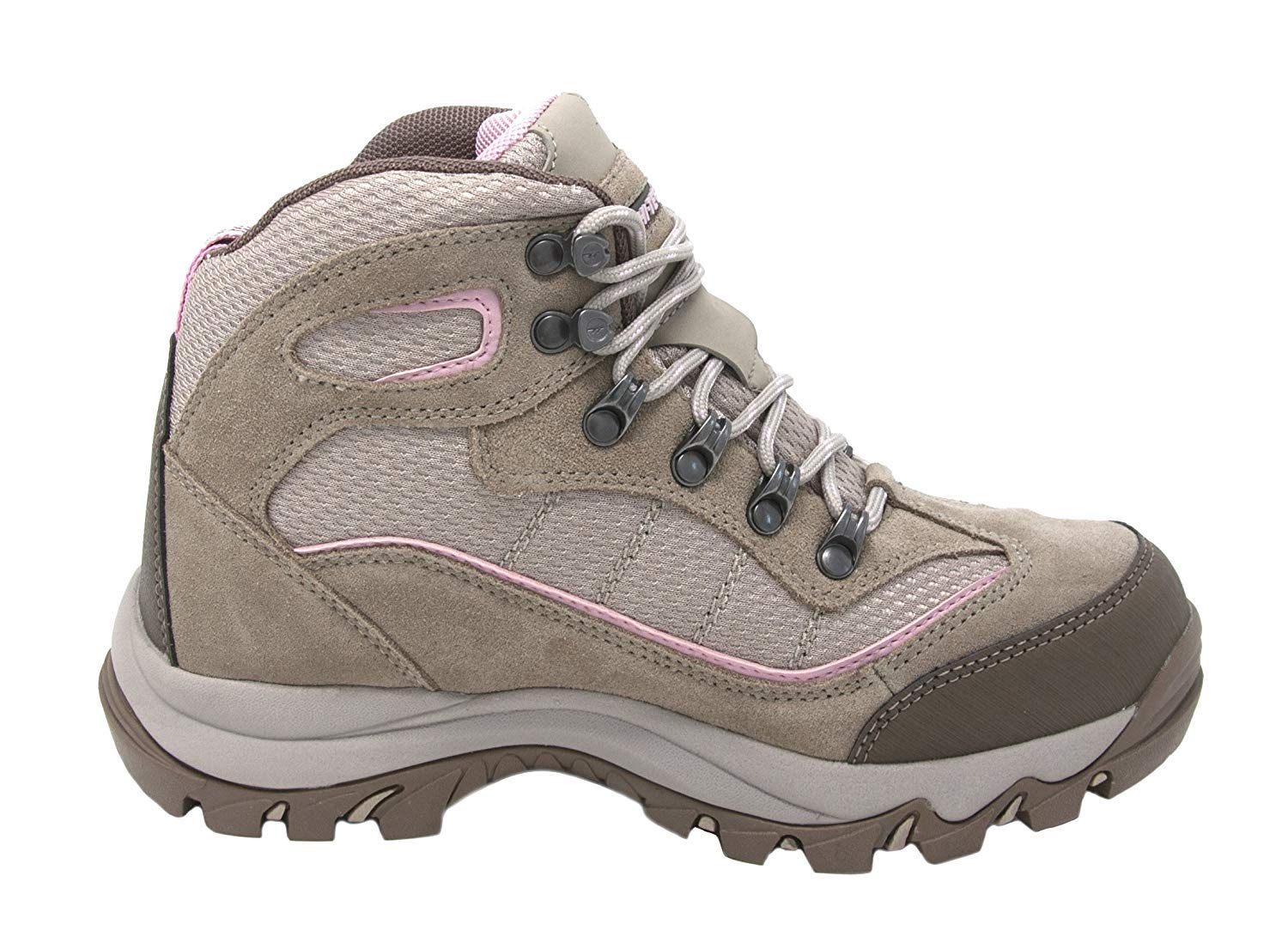 Hi-Tec Women's Skamania Mid-Rise Waterproof Hiking Boot, Natural/Pink, 9 Wide by Hi-Tec