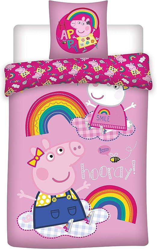 BrandMac Peppa Pig Rainbow - Juego de Funda nórdica y Funda de ...