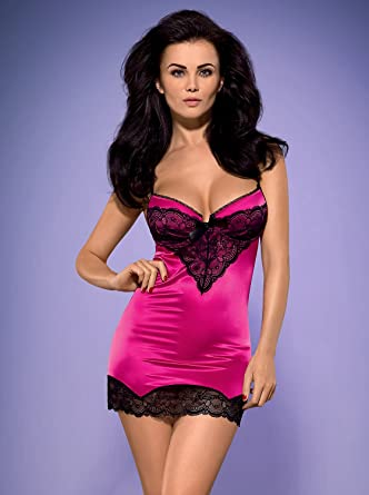 2c3a890463 Obsessive Roseberry Chemise With Thong Set With Beautiful Lace Pattern-  Perfect For Valentine s Day  Amazon.co.uk  Health   Personal Care