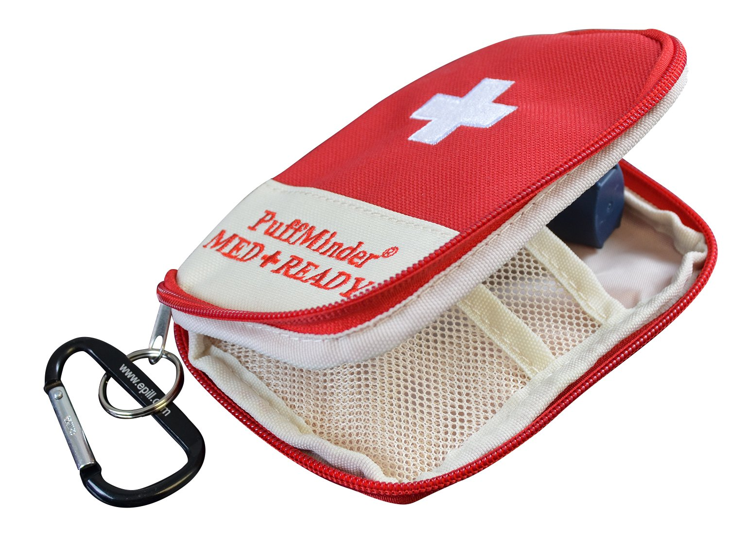 e-Pill | Asthma Attack Kit, PuffMinder Inhaler Case with Key Ring and Carabiner. Keep Your Inhaler Close to You When You Need it Most. by e-pill Medication Reminders
