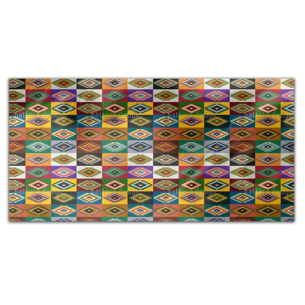 Apache Patchwork Rectangle Tablecloth: Medium