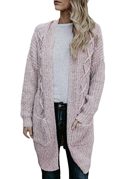 NuoReel Womens Plus Size Cable Knit Cardigan Long Sleeve Open Front Outwear  Sweater With Pockets( c4974fe2d