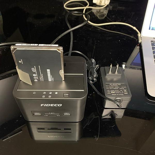 "HDDスタンドFIDECO-3-0接続2-5-3-5""SSDケース-オフラインクローン機能付きSATA-10TB"