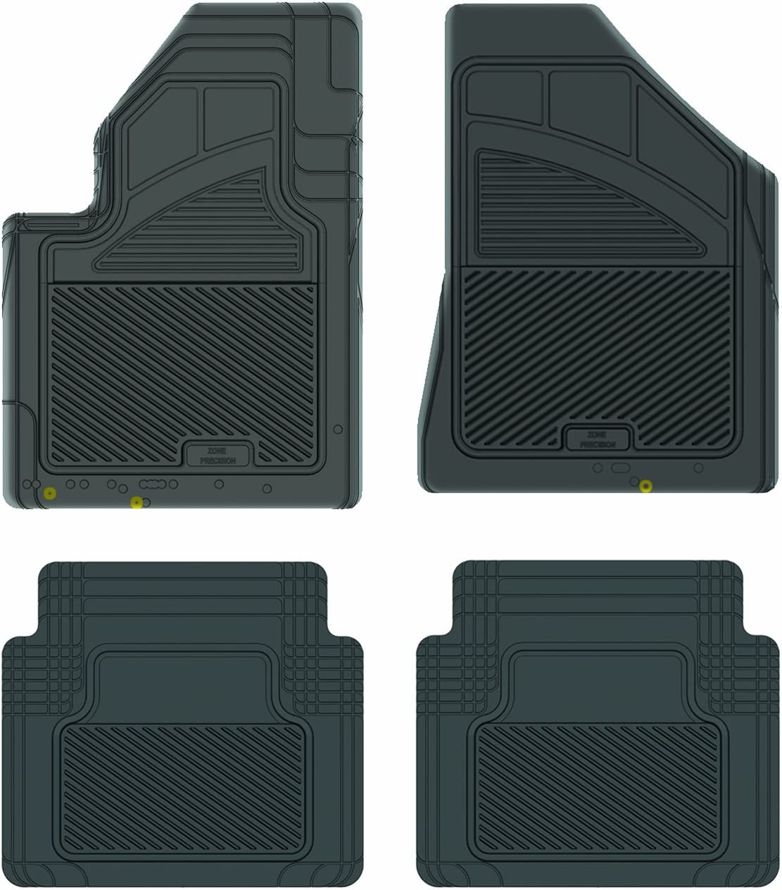 1974 GGBAILEY D4617A-S2A-BLK/_BR Custom Fit Automotive Carpet Floor Mats for 1973 Passenger /& Rear 1975 1976 Mercedes-Benz 230//240D//280//280C Black with Red Edging Driver