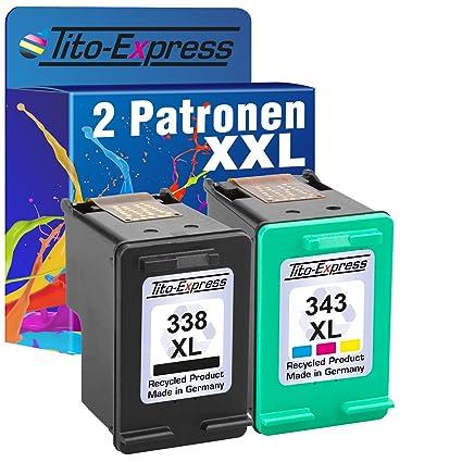 PlatinumSerie® 2 Cartuchos de tinta compatible con HP 338XL ...