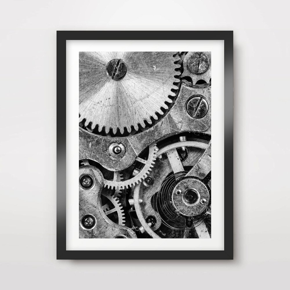 METAL MACHINERY INDUSTRIAL INTERIOR DESIGN ART PRINT Poster Room Decor Wall Size