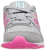 New Balance Girls' 888v1 Running Shoe, Silver
