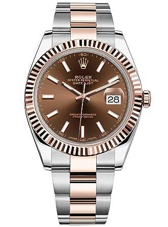 Rolex Datejust 41 en acier inoxydable et Everose Doré Oyster montre ...